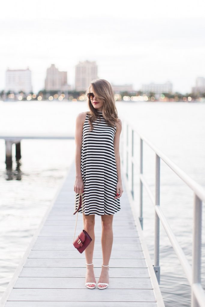 black and white striped dress 13