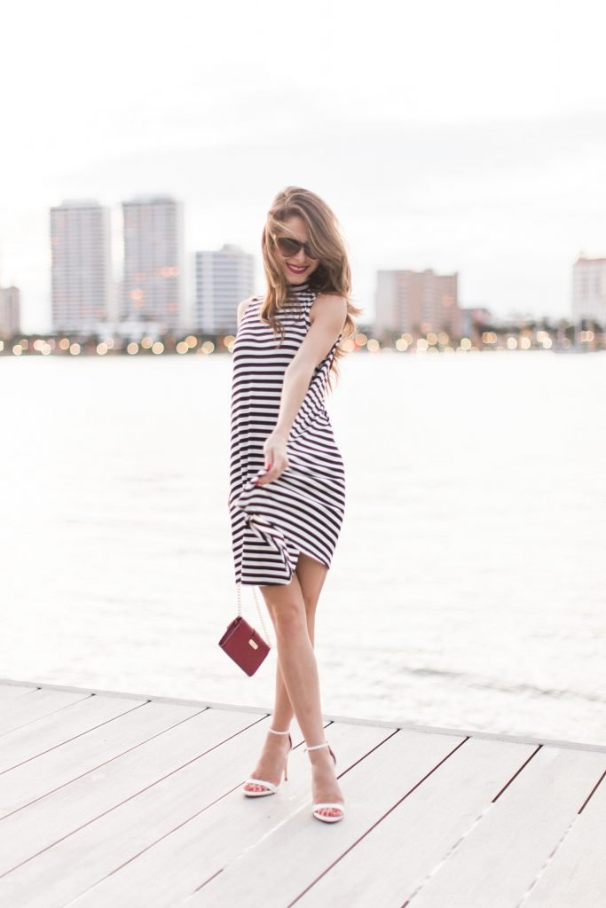 black and white striped dress 19