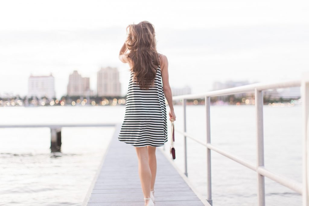 black and white striped dress_11