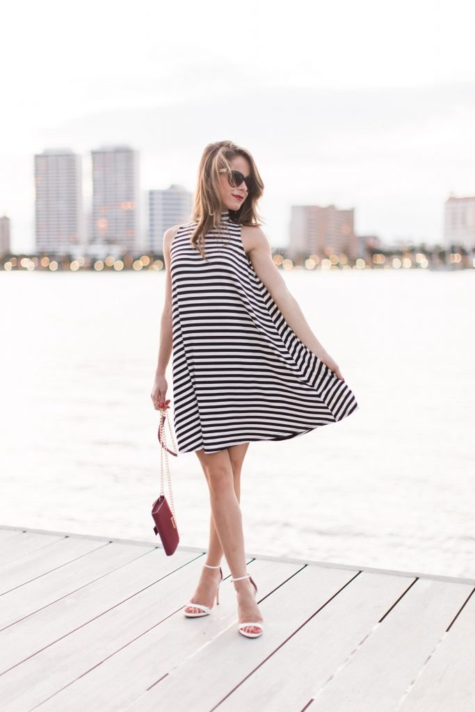 black and white striped dress_16