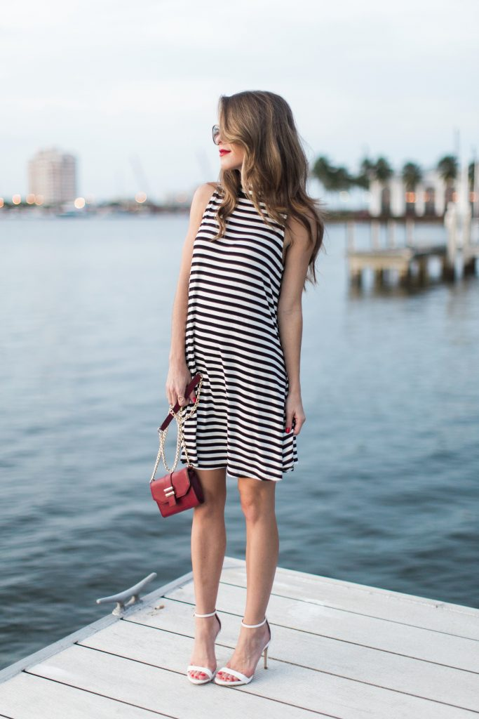 black and white striped dress_20