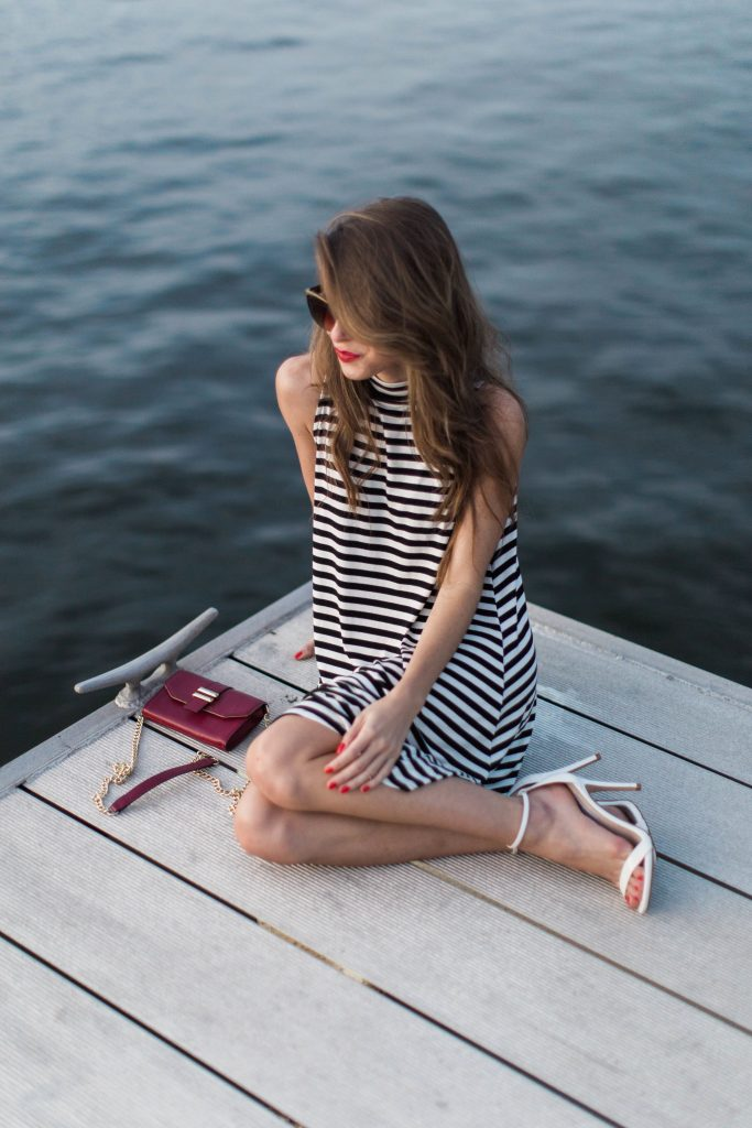 black and white striped dress_21