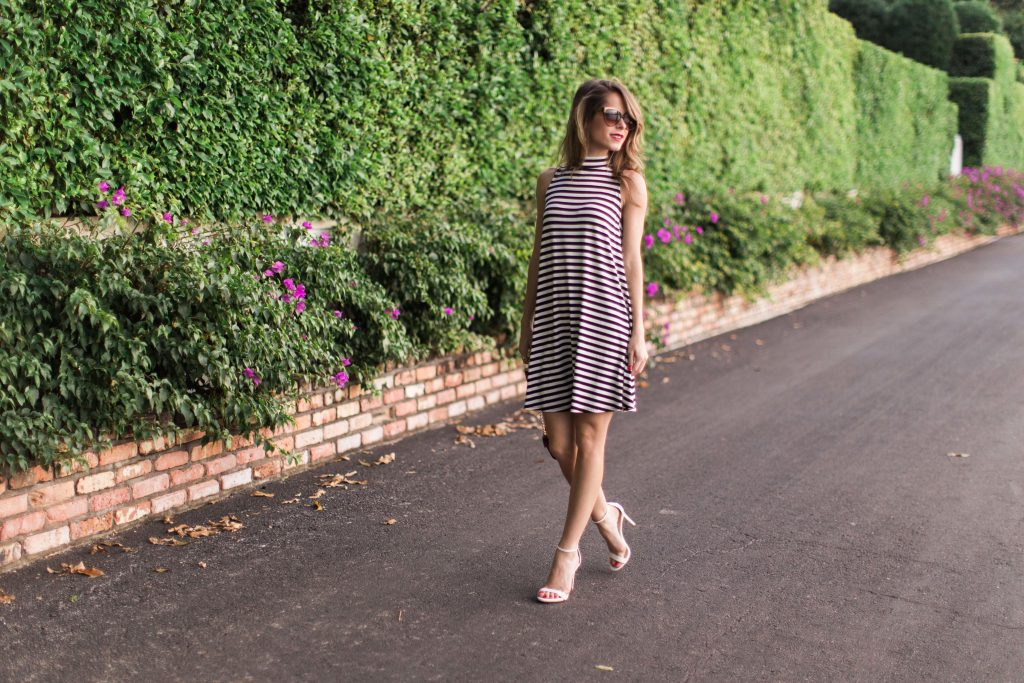 black and white striped dress_6
