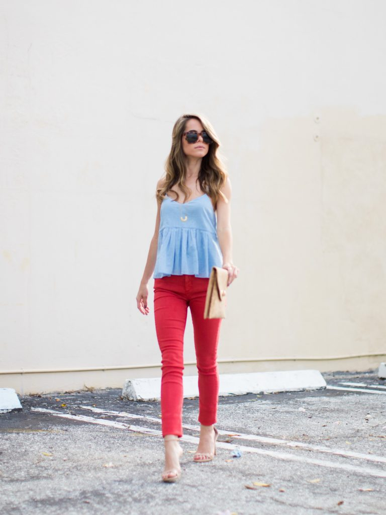 Chic Red & Blue