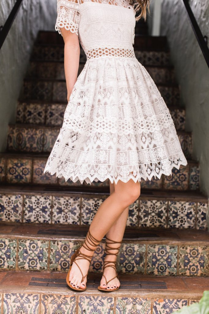Alexis White Lace Dress