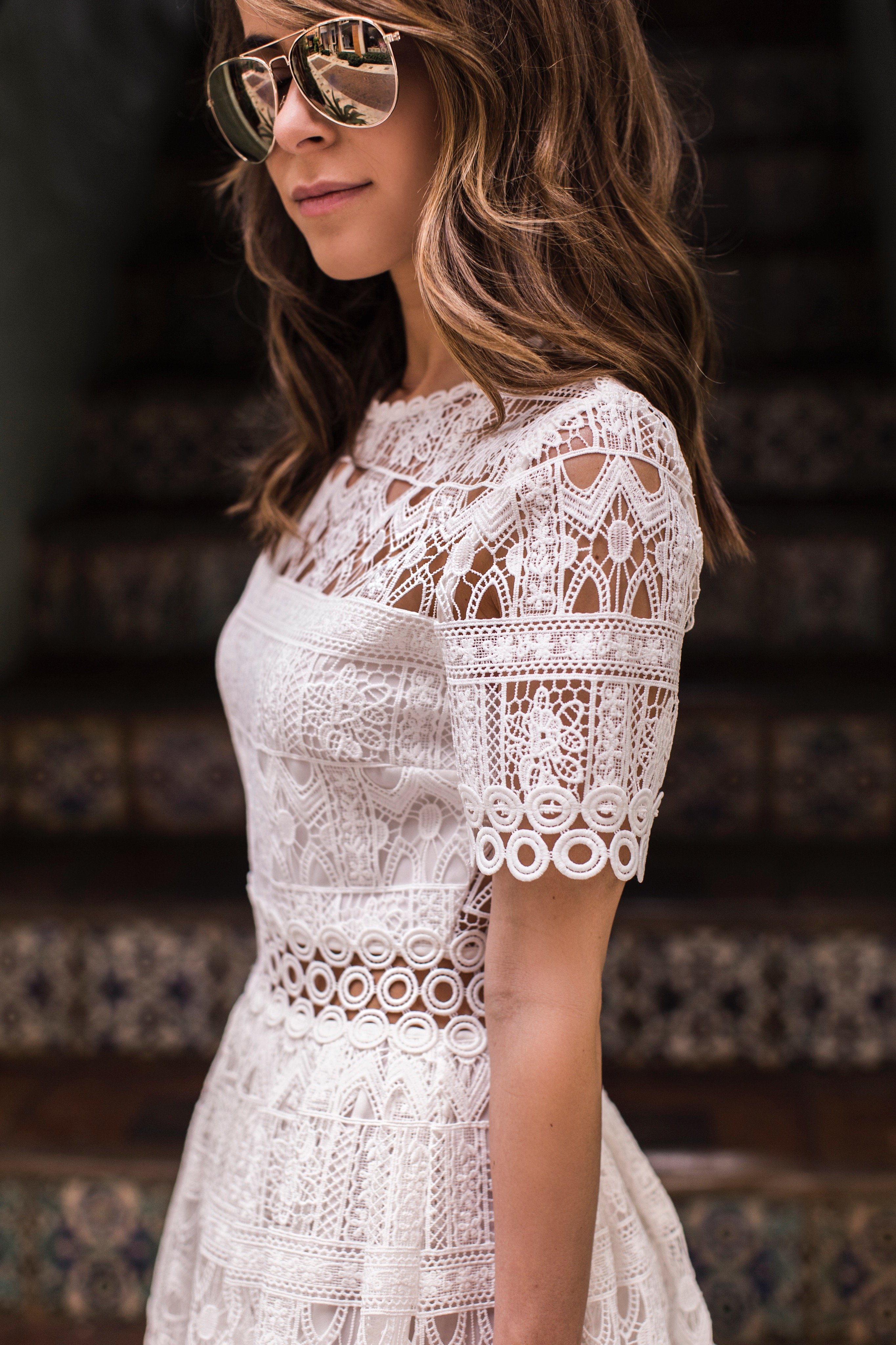 White Alexis Lace Dress The Style Bungalow