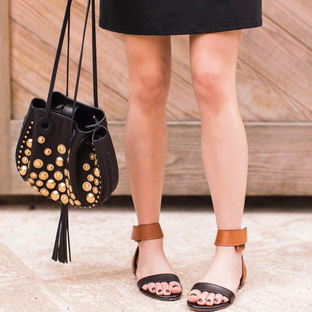 Chloe Studded Black Bag