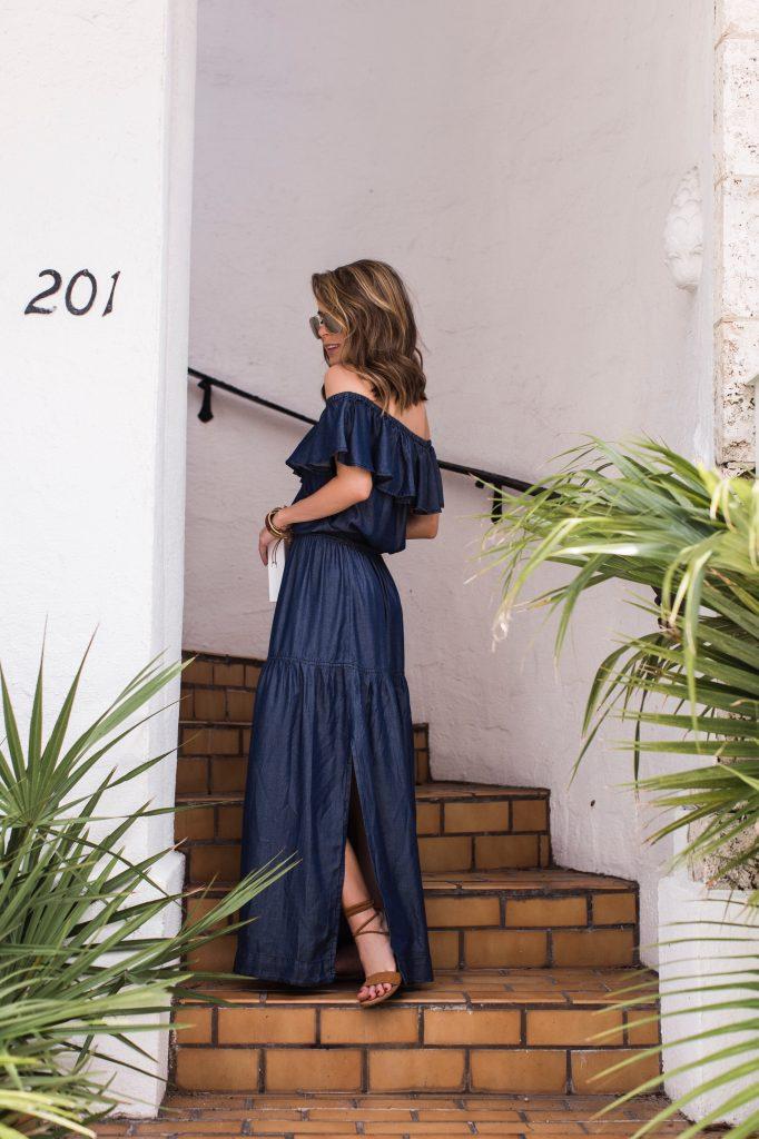 Blue Maxi Dress INC International Concepts