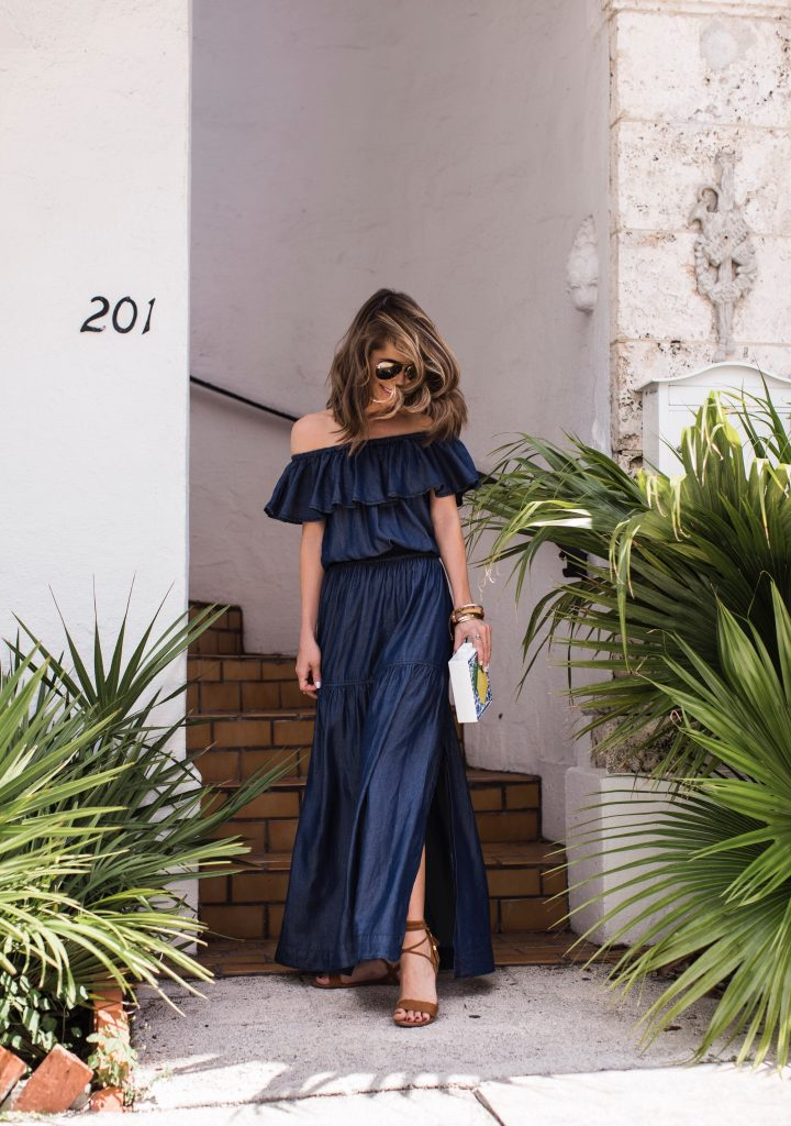 Blue Maxi Dress INC International Concepts
