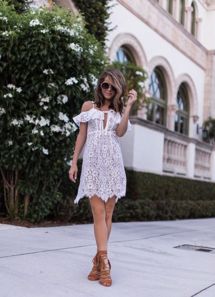 Rosemary Mini Lace Dress - The Style Bungalow
