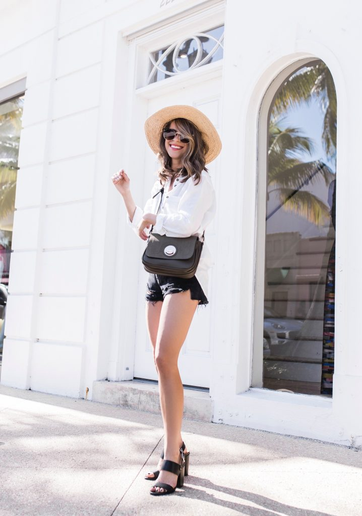 White button down from Nordstrom - The Style Bungalow